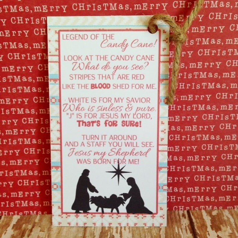 image regarding The Story of the Candy Cane Printable known as legend of the sweet cane printable, nativity sweet cane tag, printable christian sweet cane label, Quick Down load
