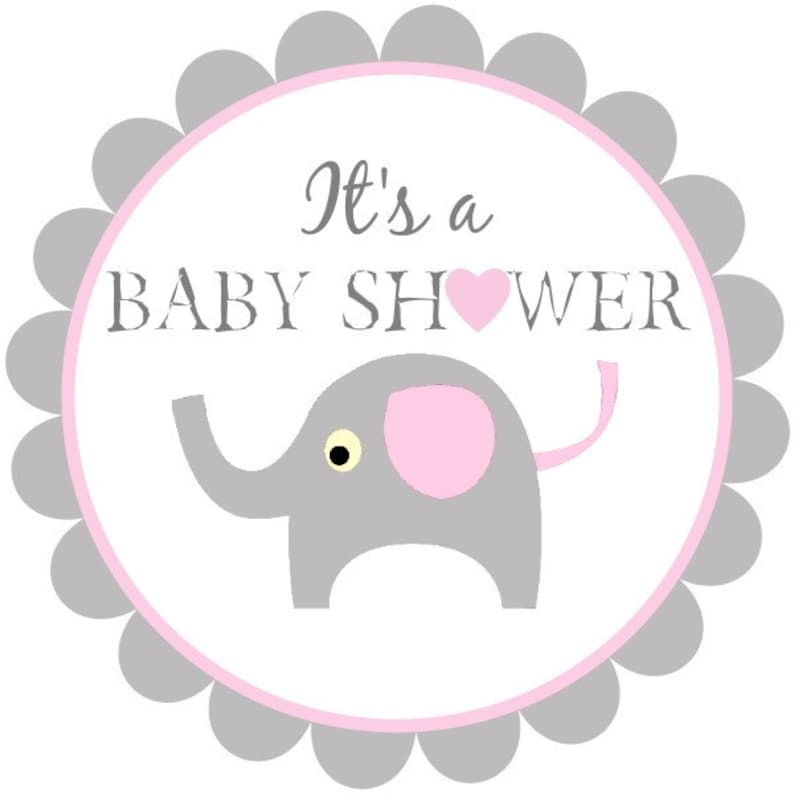 photograph about Printable Baby Shower Labels named printable boy or girl shower tags, little one elephant labels, purple and grey youngster shower labels, electronic child elephant tags, immediate obtain