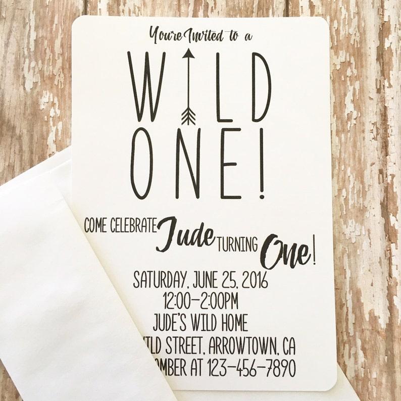 12 Wild One First Birthday Invitations Printed Boy 1st