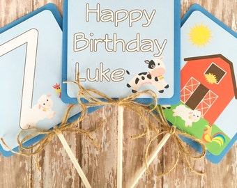 farm birthday centerpieces, barnyard centerpieces, farm animal party center pieces, country animal birthday table toppers, 2nd birthday