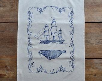 Tea Towel - The Walrus & The Ship