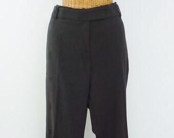 90s Calvin Klein Rayon Dress Trousers Dark Chocolate Unworn 16