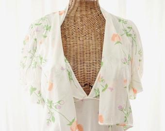Berkleigh 60s Nightgown Robe Jacket Set Unworn Size Large