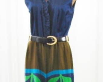 Tori Richard 1970s Jumpsuit Honolulu U.S.A. Made Unworn Size 16