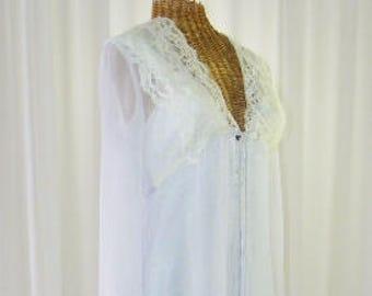 Designer Bridal Peignoir Diane Samandi for Jonquil Unworn Size Small ab1c92617