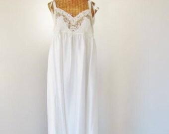Donna Richard Sheer Soutache Lace Nightgown Bodice  1970s SM