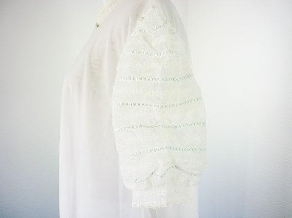 Vanity Fair Floor Length Double Layer Chiffon Robe