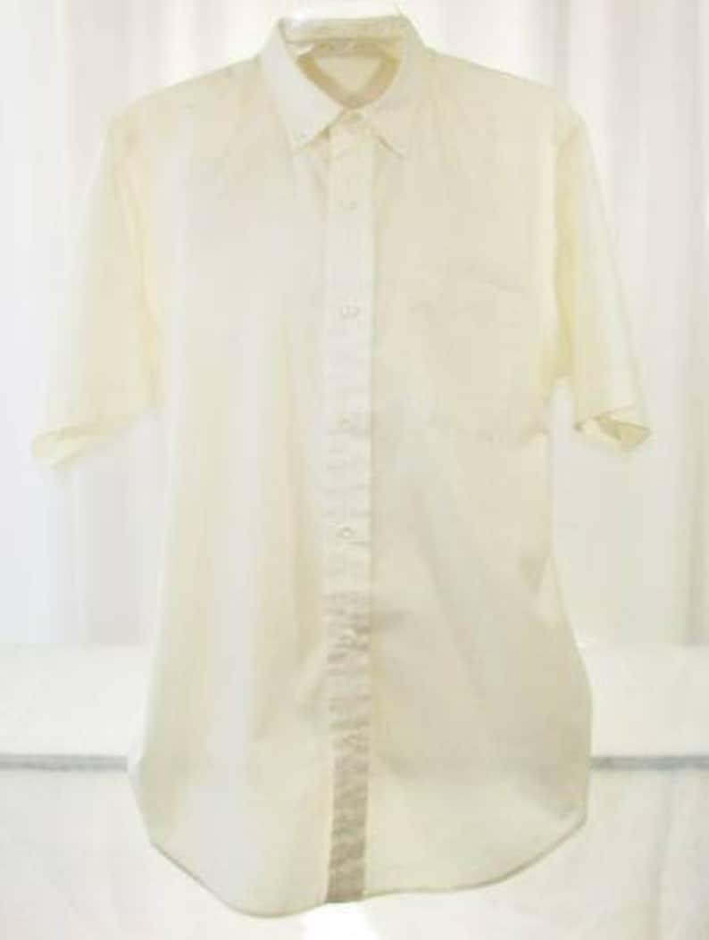 Men/'s Tailored Vintage Shirt by Ripley Dallas Short Sleeve Unworn Medium