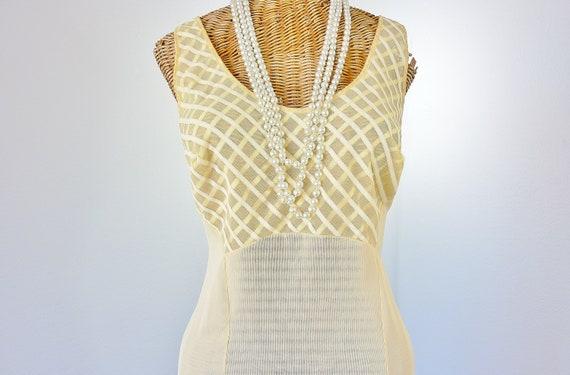 Fischer Lingerie Yellow Nightgown Sheer Ribbon Bod