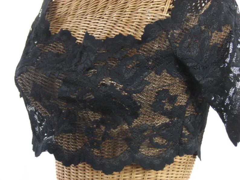 2ba488b0bf9 Victoria's Secret Lace Crop Top Off Shoulder Option Sexy   Etsy