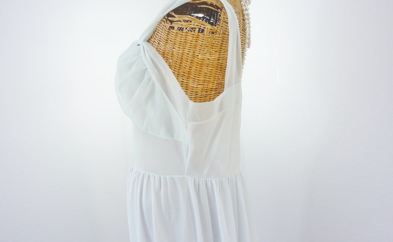 Gotham Gold Stripe Mrs Maisel Blue Chiffon Nightgown Unworn 50s