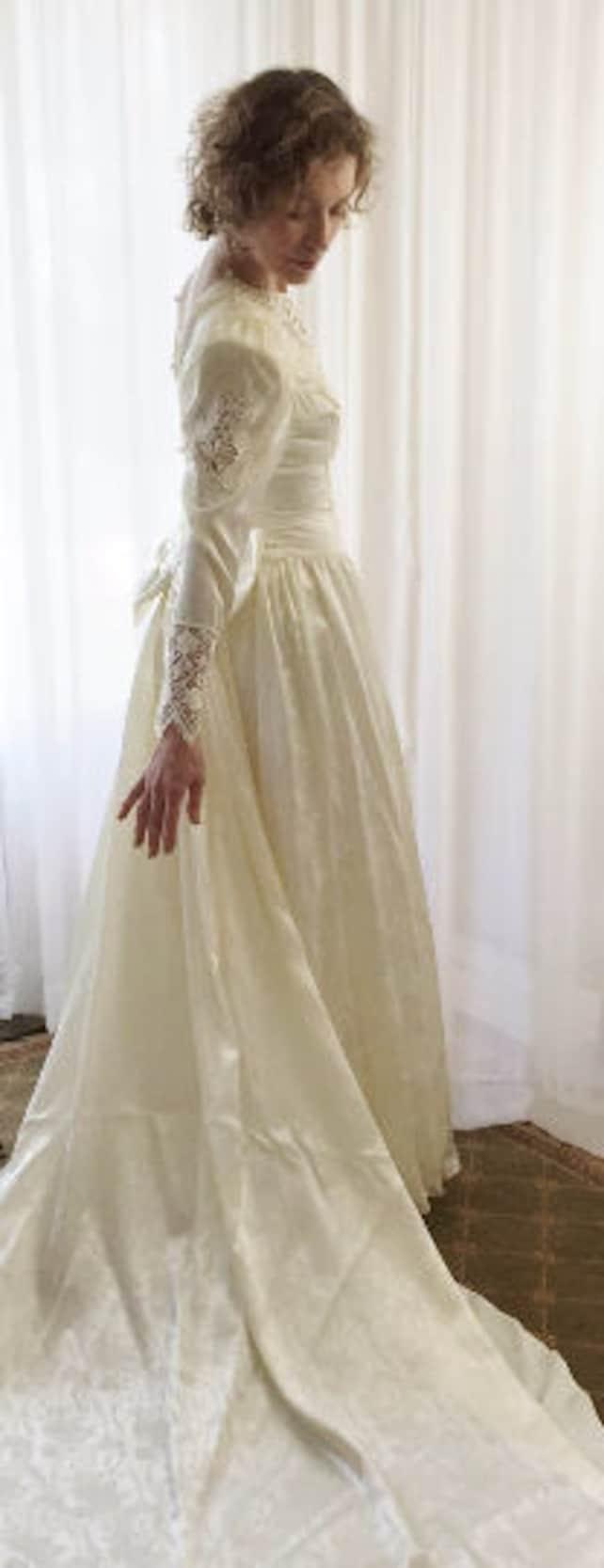 856e4b33fcc Gunne Sax Vintage Wedding Gown Jessica McClintock Unworn Size 7