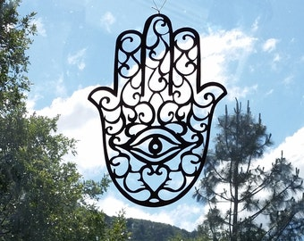 Hamsa Wall Art Recycled Metal