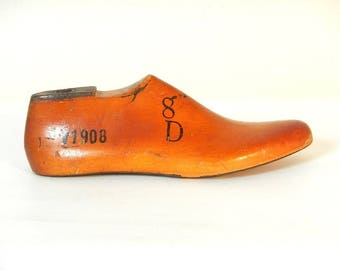 Vintage Wooden J.V. Shoe Mold