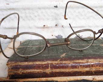 Gas Mask Eyeglasses, WWII Spectacles, Respirator Inserts, Military, Steampunk