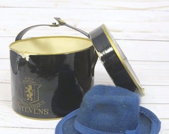 691a0aae561e0 Salesman s Sample Hat Box   Felt Fedora Hat