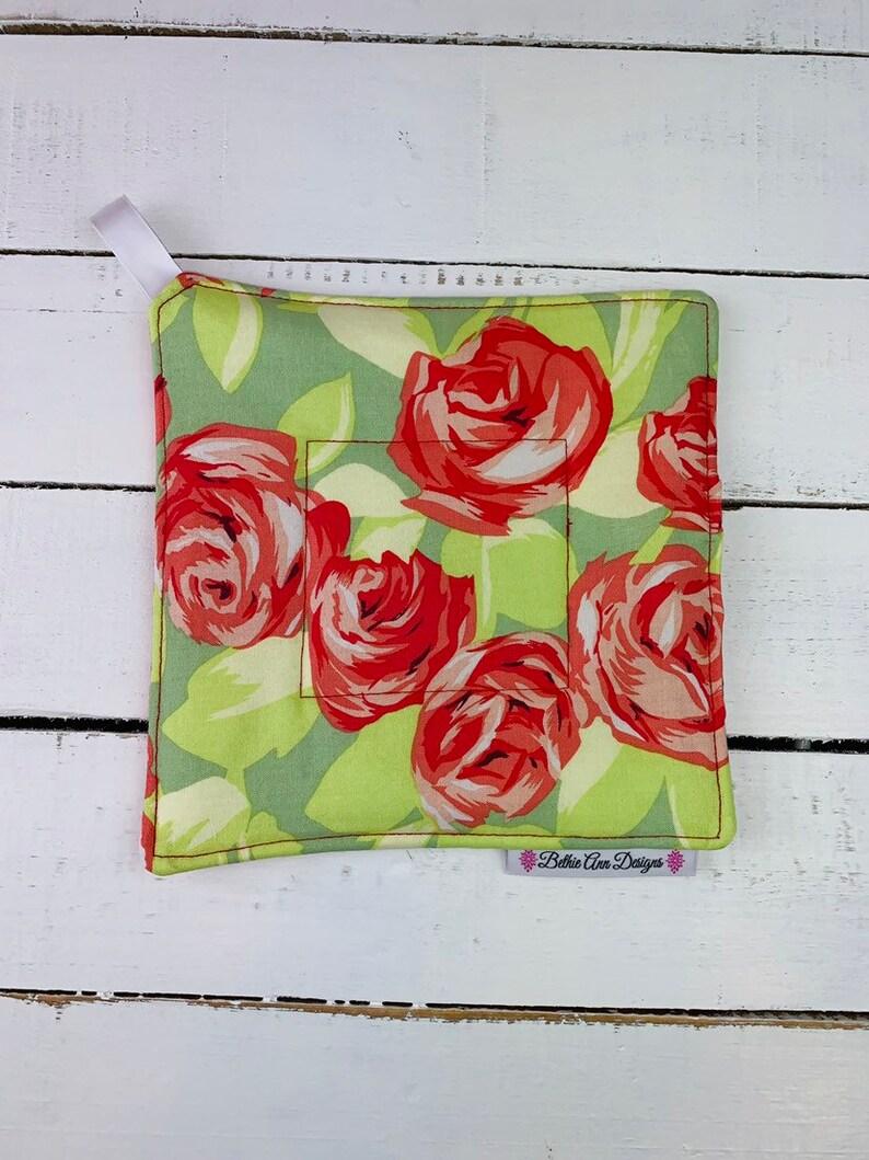 Rose Floral Fabric Pot Holder