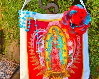 Virgen de Guadalupe Applique Tote