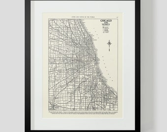 Map of Chicago Illinois