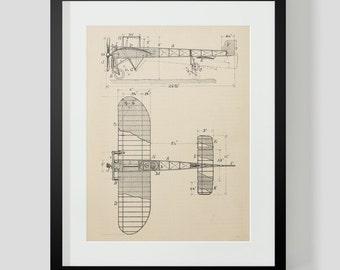 Vintage Flying Machine, Airplane Print 6