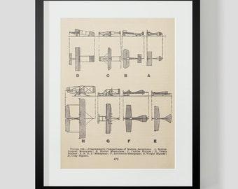 Vintage Flying Machine, Airplane Print 8