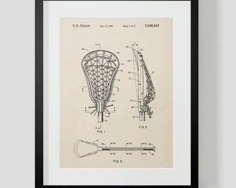Lacrosse Stick Vintage Patent Print 3