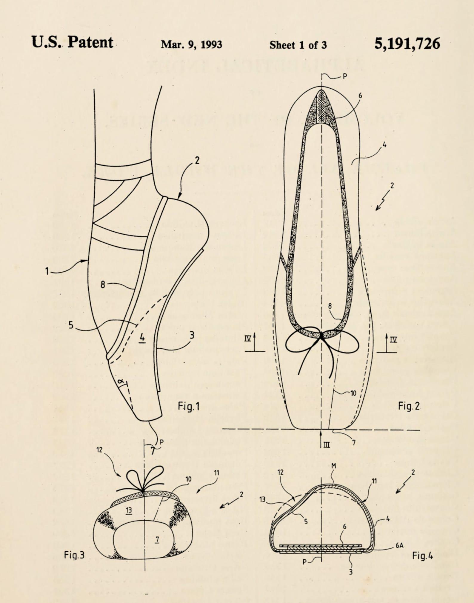 ballerina shoe ballet flat pointe shoe patent print 2