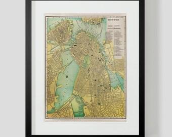 1896 Map of Boston