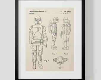 Star Wars Boba Fett Patent Art Print