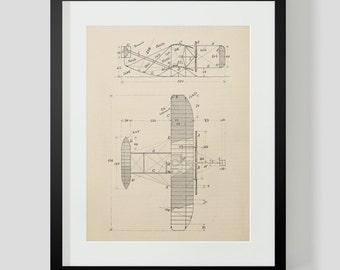 Vintage Flying Machine, Airplane Print 5