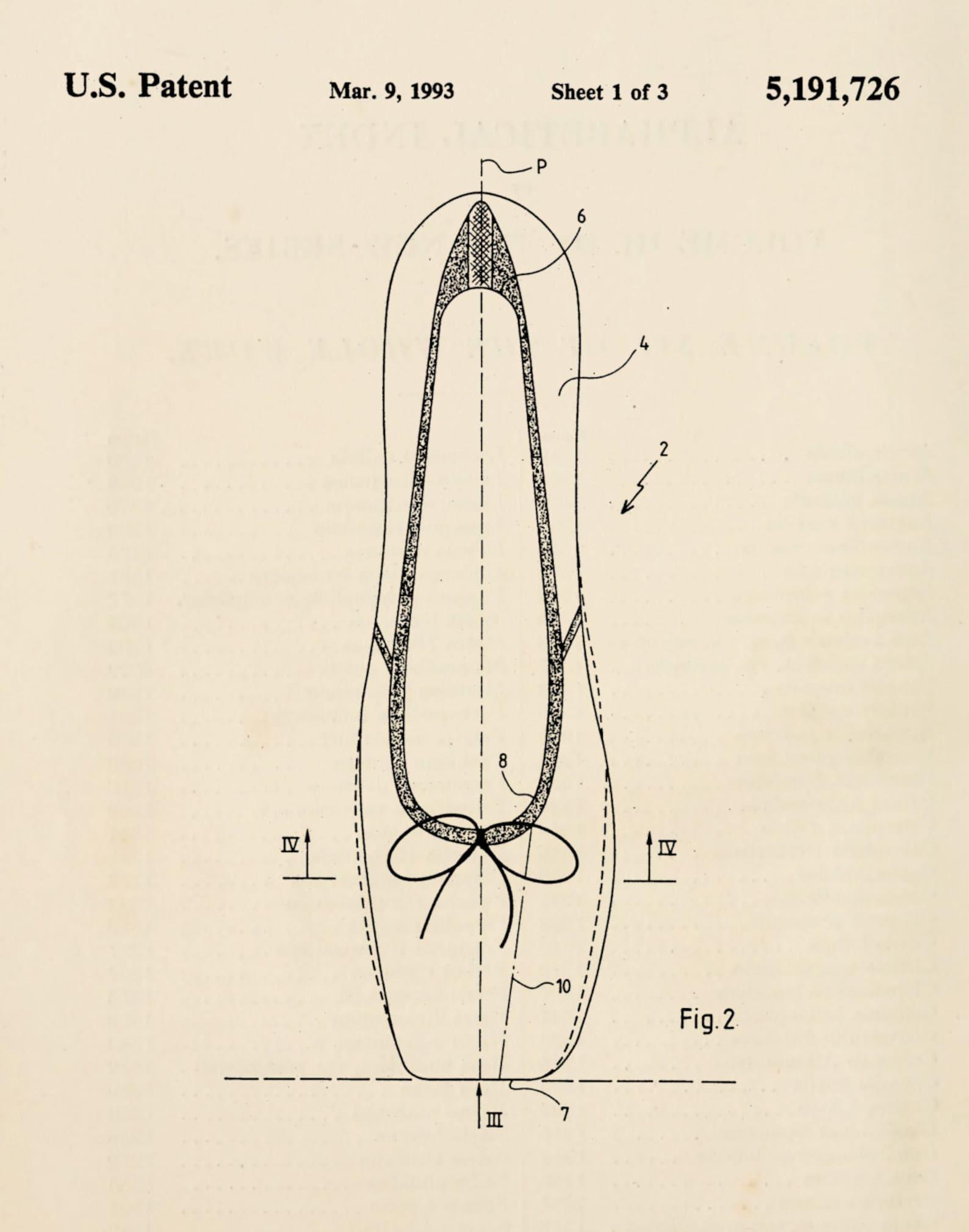 ballerina shoe ballet flat pointe shoe patent print 1