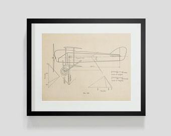 Vintage Flying Machine, Airplane Print 3