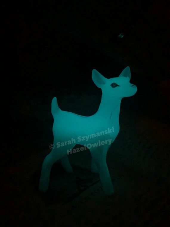Glowing Doe Patronus Harry Potter Inspired Calico Owlery Clay Miniatures