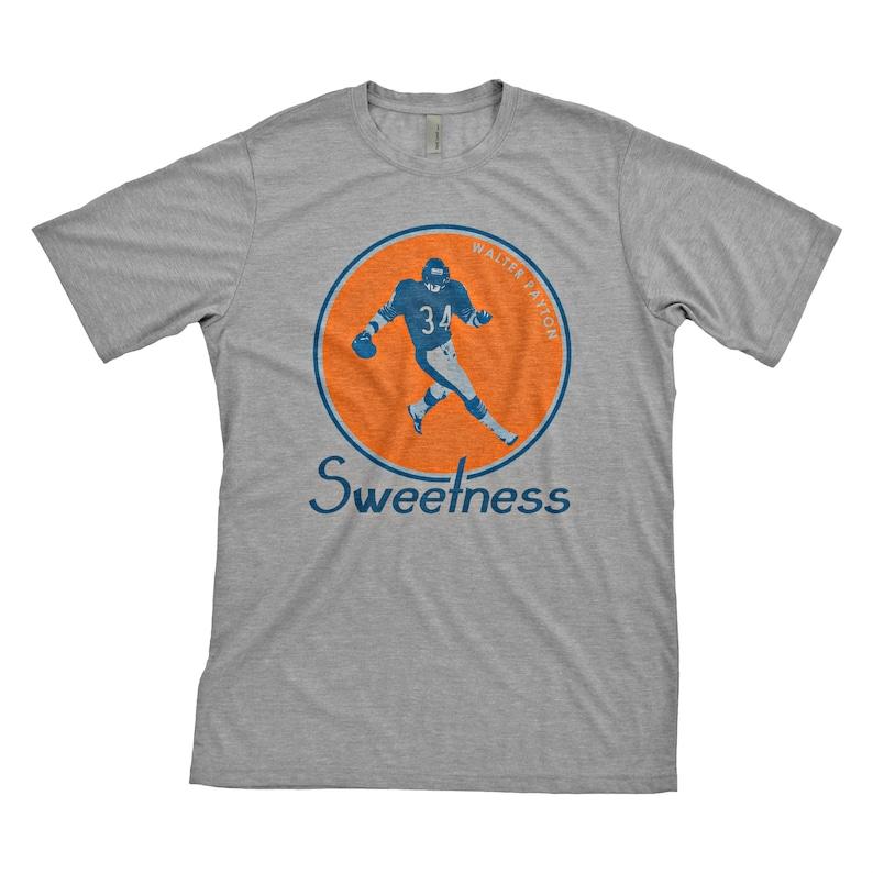 Walter Payton Vintage Chicago Bears T-Shirt Heather Gray  33f133537