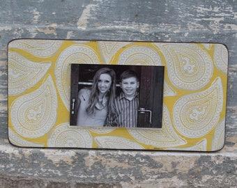 Handpainted reclaimed wood frame