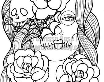 16 Page Black And White Adult Coloring Book Etsy