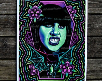 Nadja   Limited Edition   What We Do In The Shadows Fanart Signed Poster 18x24 inches