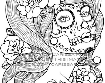 Digital Download Print Your Own Coloring Book Outline Page - Benumbed by Carissa Rose