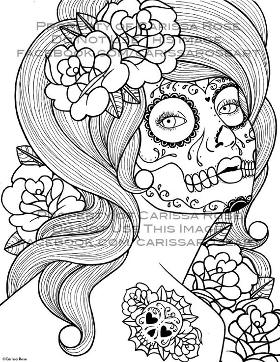 Digital Coloring Book Download : Digital Download Print Your Own Coloring Book Outline Page