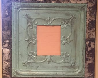 8x10 Ceiling Tin and Roof Tin Shingle Picture Frame