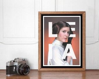 Princess Leia Modern Poster, Star Wars Wall art Printable, Start Wars Poster, Nursery Decor, Superhero Bedroom, Instant Download