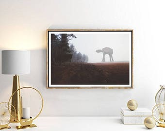 At-At Photo, Star Wars Wall art Printable, Start Wars Poster, Home Decor, Nursery Decor, Superhero Bedroom, Instant Download