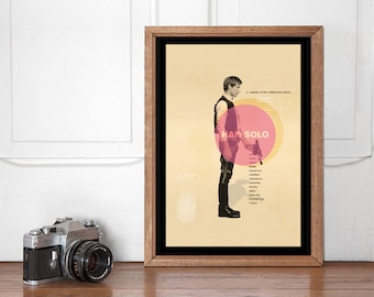 Han Solo Mid Century Poster, Star Wars Wall art Printable, Start Wars Poster, Nursery Decor, Superhero Bedroom, Instant Download