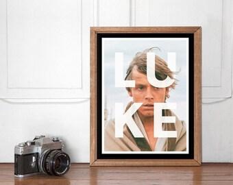 Luke Skywalker Modern Poster, Star Wars Wall art Printable, Start Wars Poster, Nursery Decor, Superhero Bedroom, Instant Download