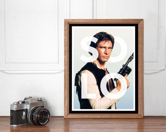 Han Solo Modern Poster, Star Wars Wall art Printable, Start Wars Poster, Nursery Decor, Superhero Bedroom, Instant Download