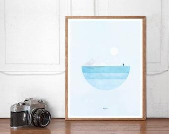 Hoth, Star Wars Wall art Printable, Start Wars Poster, Nursery Decor, Superhero Bedroom, Instant Download