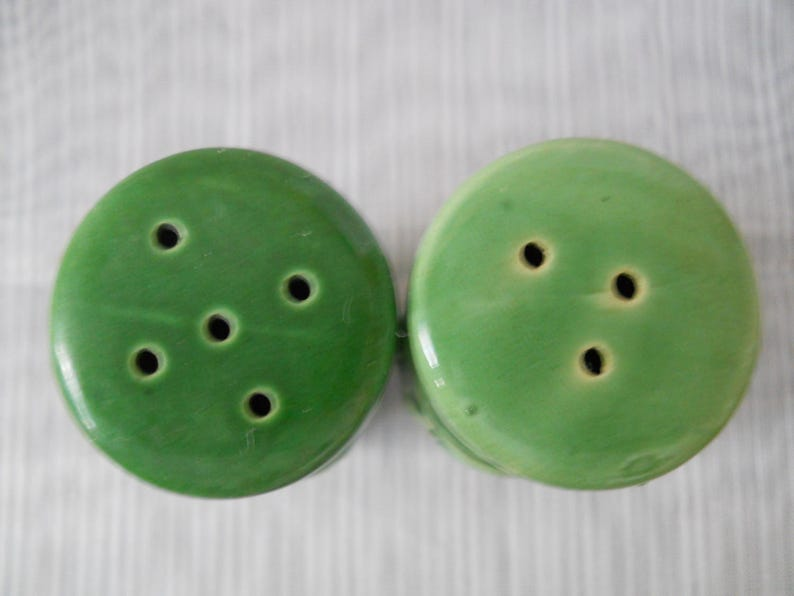Nevco fish Nevco Green Fish Salt and Pepper Shakers vintage collectible