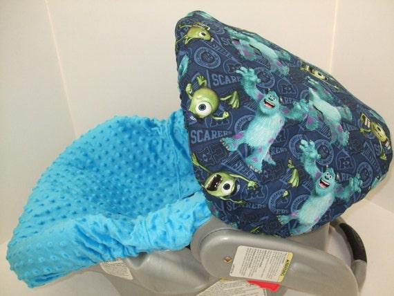 Monsters Inc Theme Print Infant Car Seat Slip Cover Set