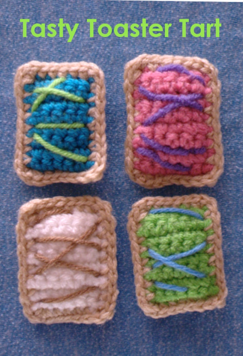 Mini Crochet Toaster Tart   Cat Toy  Crochet  image 0