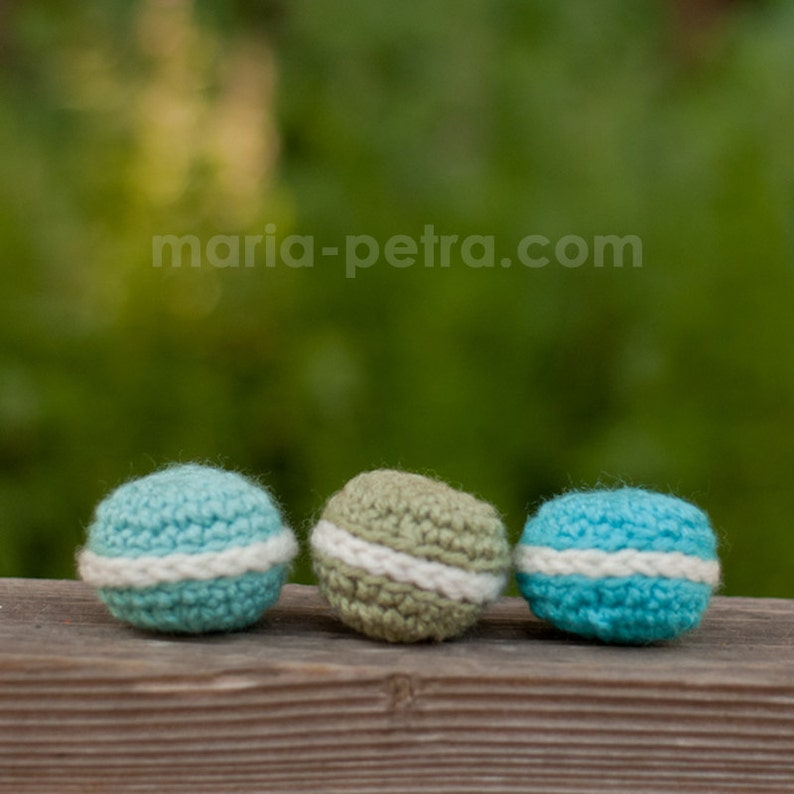 Mew Mew Macarons  Cat Toy  Crochet  Gifts for Purr image 0